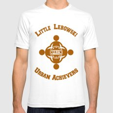 Little Lebowski Urban Ac… Mens Fitted Tee White SMALL