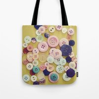 Vintage Buttons  Tote Bag