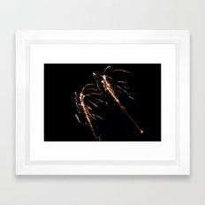 Jets of Fireworks Framed Art Print