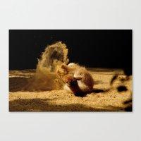 Animal sandwave Canvas Print