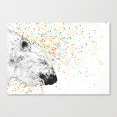 Polar Bear // Endangered Animals Canvas Print