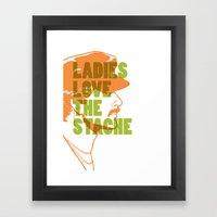Ladies Love the Mustache Framed Art Print