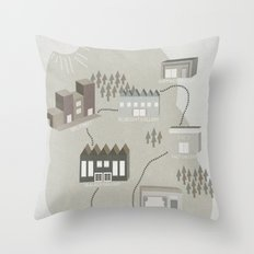 City Travels Throw Pillow