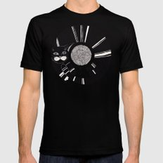 cats life: playing Black SMALL Mens Fitted Tee