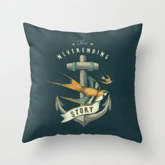 Anchor | Petrol Grey Throw Pillow
