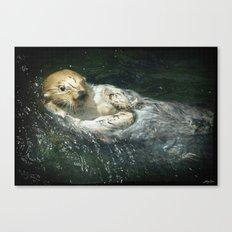 Drifting Away - Sea Otter Canvas Print