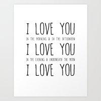 I Love You Art Print