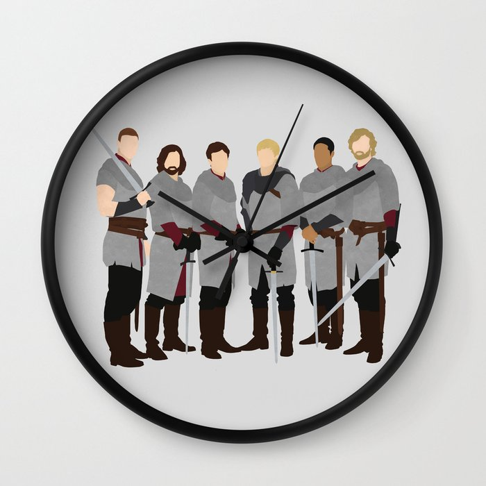 Merlin bbc the knights of the round table wall clock by for 12 knights of the round table and their characteristics
