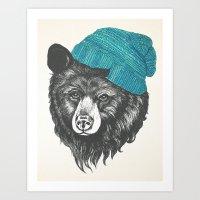 Zissou The Bear In Blue Art Print