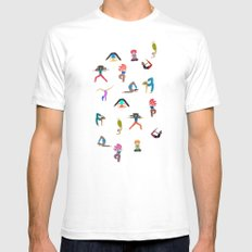 yoga lovers Mens Fitted Tee White SMALL