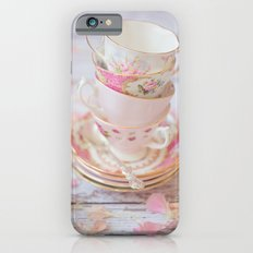 Shabby Chic Vintage Cups in Pink iPhone 6 Slim Case