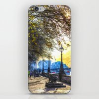 River Thames Path Waterc… iPhone & iPod Skin