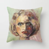 the unknowing Throw Pillow