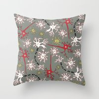 Neuron Nerd Throw Pillow