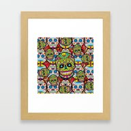 Sugar Skulls Framed Art Print