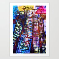 The Impossible Building  Art Print