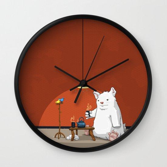 Tea for Three Wall Clock