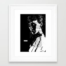 Spare Me Framed Art Print