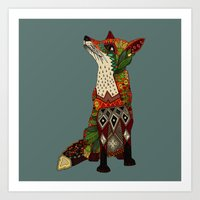 fox love juniper Art Print