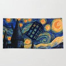 Tardis The Starry Night Beach Towel