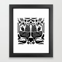 MCM Sanna Black Framed Art Print