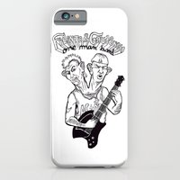 iPhone & iPod Case featuring One man band by Guapo