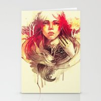 Purity In Red Stationery Cards