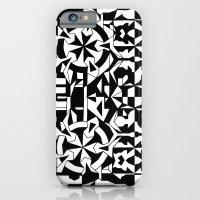Black And White Square 1 iPhone 6 Slim Case