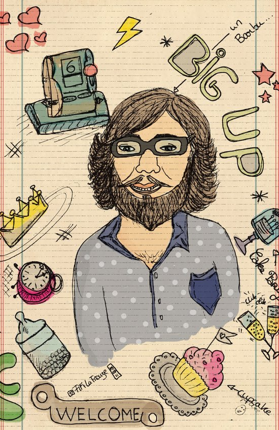 Le barbu Art Print