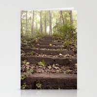 stairs in the woods Stationery Cards