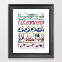 Patterned Stripes Framed Art Print