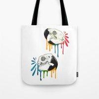 Skull Candy Macaws Tote Bag
