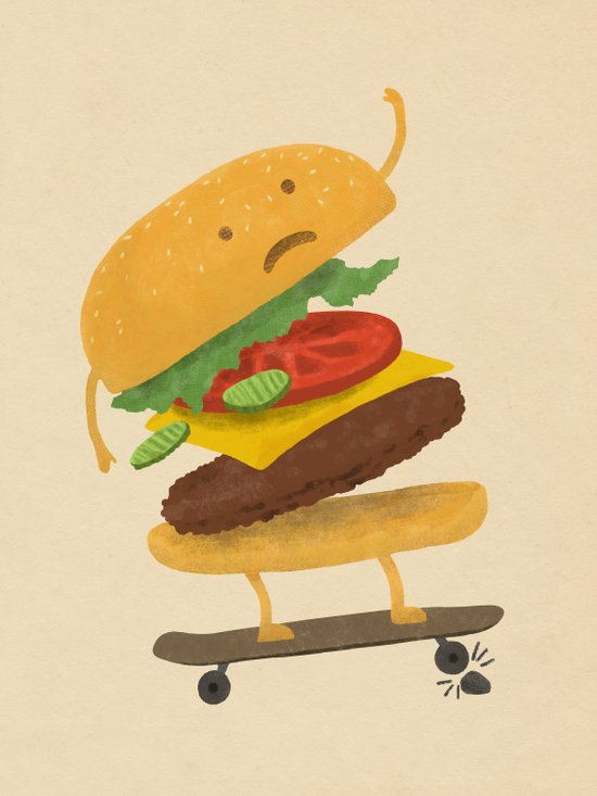 Burger Wipe-out Canvas Print