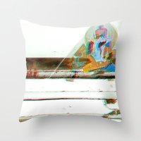 Tan^3d°c Throw Pillow