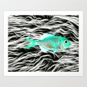 Fish on Fur V Art Print