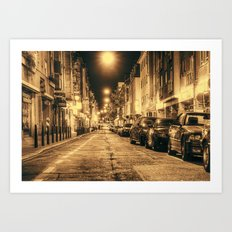 Streets of Mannheim Art Print