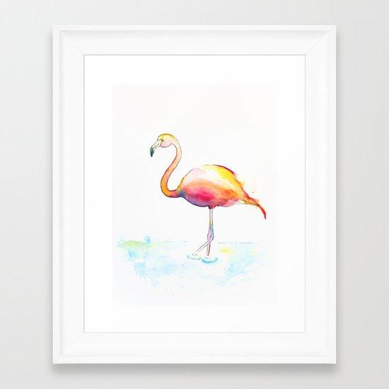 Flamingow Framed Art Print