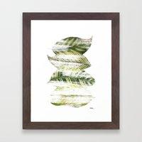 Brushed leaves Framed Art Print