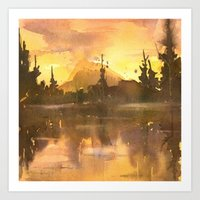 Sunset in the Tropics Art Print