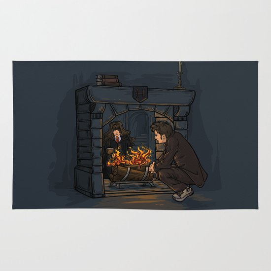 The Witch in the Fireplace Area & Throw Rug