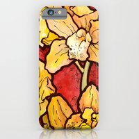 iPhone & iPod Case featuring Yellow Lillies by Claire Astra