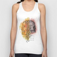 Lady and a skull Unisex Tank Top
