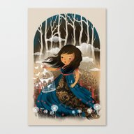 Canvas Print featuring There Once Was A Girl In… by Dan Elijah G. Fajard…