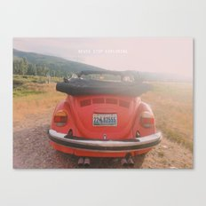 NEVER STOP EXPLORING II - vintage vw bug Canvas Print