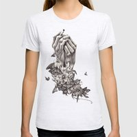 Pray for Nature Womens Fitted Tee Ash Grey SMALL