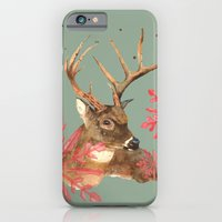 iPhone & iPod Case featuring Forest Royalty, Stag, Deer, Christmas Stag, Woodland animals by eastwitching