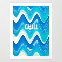 CHILL BEACH WAVE Art Print