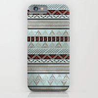 iPhone Cases featuring Harry Tribal Print Potter- Horcrux Blue by E.M. Blood