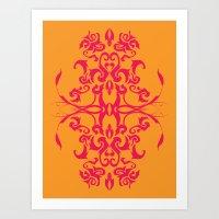 Creamsicle - Pink Art Print