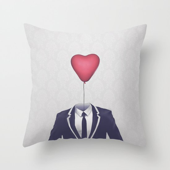 Mr. Valentine Throw Pillow